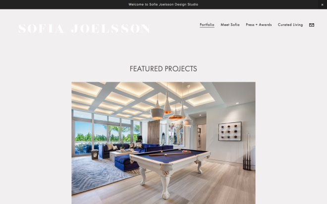 Sofia Joelsson Featured Projects